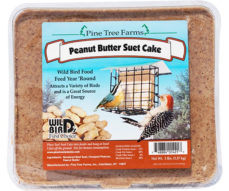 3lb Peanut Suet Cake,Pine Tree Farms,PTF1421