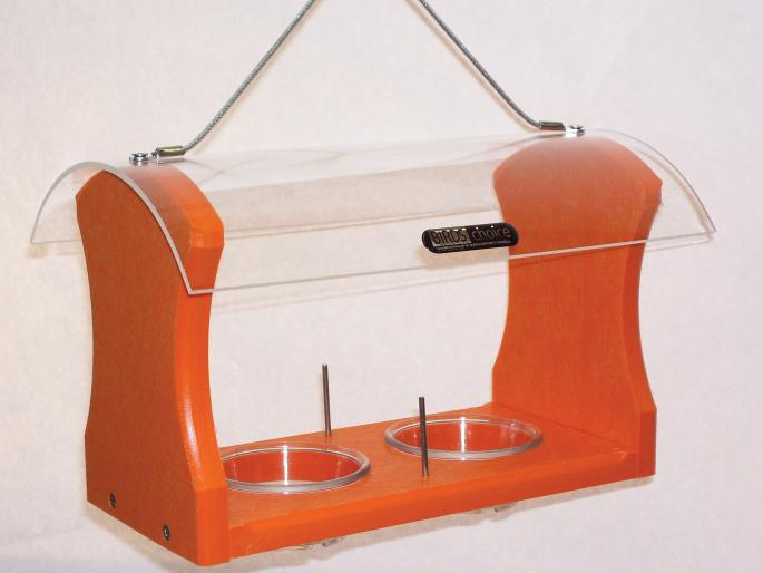 Recycled Orange 2-Cup Oriole Feeder,Backyard Nature Products,SNOF