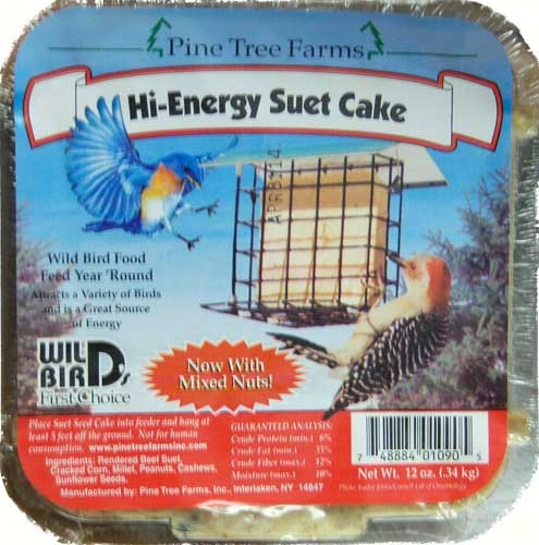 High Energy Suet Cake 12 oz.,Pine Tree Farms,PTF1090