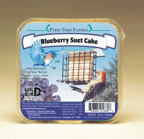 Blueberry Suet Cake 12 oz.,Pine Tree Farms,PTF1680