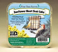 Sunflower Heart Suet  Cake 12 oz.,Pine Tree Farms,PTF1201