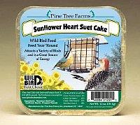 Sunflower Heart Suet  Cake 12 oz.,Pine Tree Farms,PTF1201