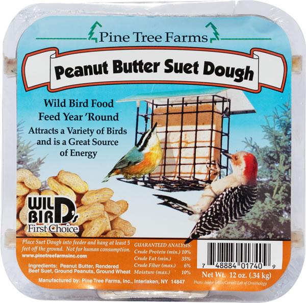 Peanut Butter Suet Dough Cake 13.5 oz.,Pine Tree Farms,PTF1740