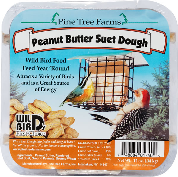Peanut Butter Suet Dough Cake 13.5 oz.,Pine Tree Farms,PTF1740