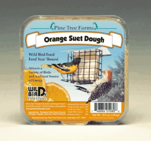 Orange Suet Dough Cake 13.5 oz.,Pine Tree Farms,PTF1080