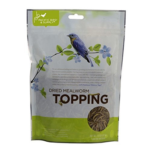 Dried Mealworm Topping,Pacific Bird and Supply,MWMWPBTOP