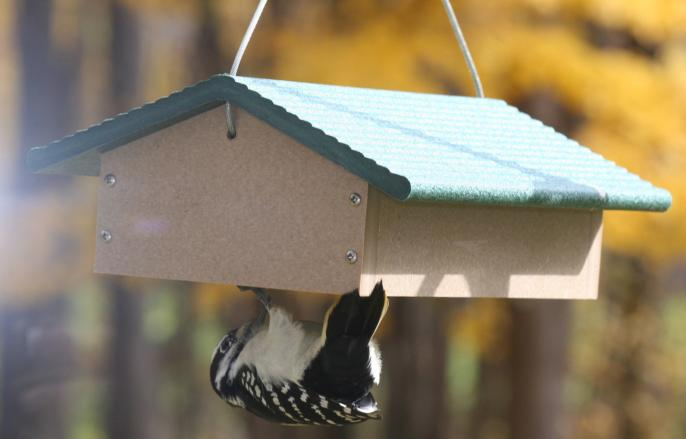 Recycled Double Upside Down Suet Feeder,SNUDD