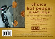 Choice Hot Pepper Suet Plugs,Backyard Nature Products,CHPL12