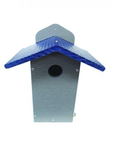 Bluebird House Gray w/ Blue Roof- Geen Solutions,GSBBH-B